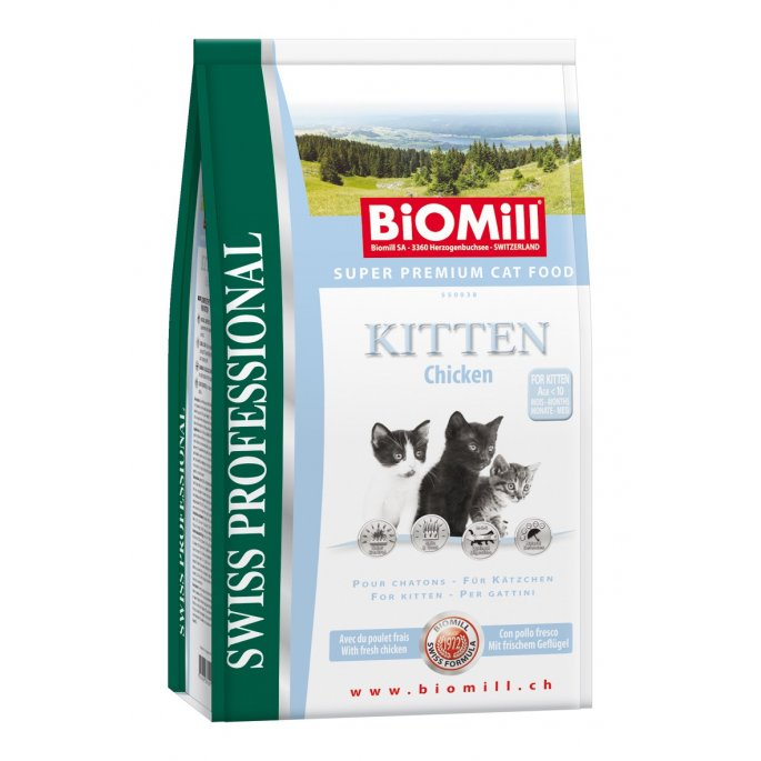 BiOMill Swiss Professional KITTEN Chicken & Rice