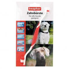 BEAPHAR Dwugłowicowa szczoteczka do zębów dla psów wszystkich ras