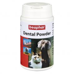 BEAPHAR DENTAL POWDER naturalne brunatnice na przykry zapach z jamy ustnej