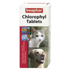 BEAPHAR CHLOROPHYLL TABLETS likwiduje niepożądane zapachy zwierząt