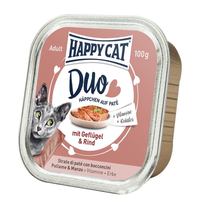 Mokra karma Happy Cat pasztet drób i wołowina