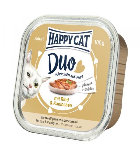 Mokra karma Happy Cat pasztet wołowina i królik