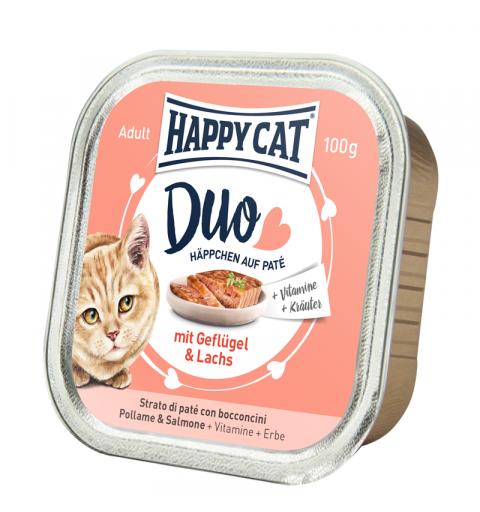 Mokra karma Happy Cat pasztet drób i łosoś