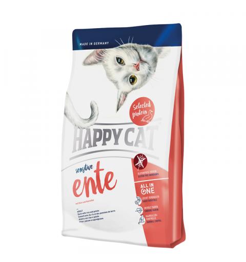 Sucha karma Happy Cat Sensitive Kaczka