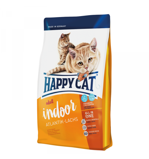 Sucha karma Happy Cat Fit & Well Indoor Adult Łosoś