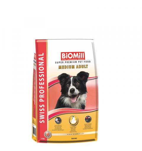 BiOMill Swiss Professional Medium Adult Chicken