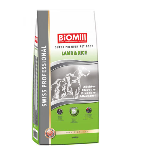 BiOMill Swiss Professional All Breed Lamb & Rice