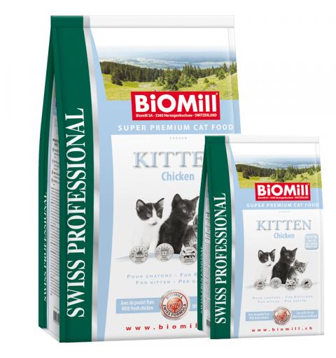 BiOMill Swiss Professional KITTEN Chicken & Rice 10kg + 3kg