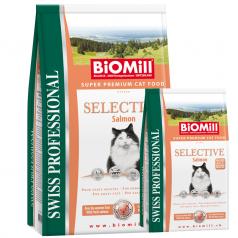 BiOMill Swiss Professional SELECTIVE Salmon & Rice 10kg + 3kg