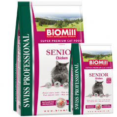 BiOMill Swiss Professional SENIOR Chicken & Rice 10kg + 3kg