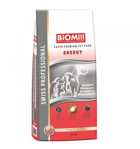 BiOMill Swiss Professional All Breed Energy 20kg ciastka + pojemnik