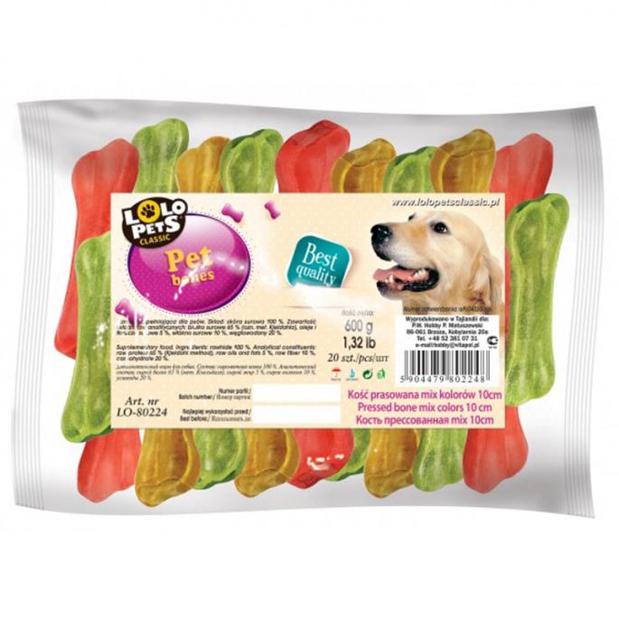 Lolo Pets Lolo Pets kość prasowana mix kolorów