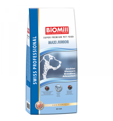 BiOMill Swiss Professional Maxi Junior (Chicken & Rice)