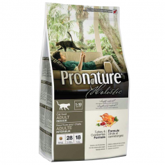 Pronature Holistic dla kotów dorosłych Indyk & Żurawina