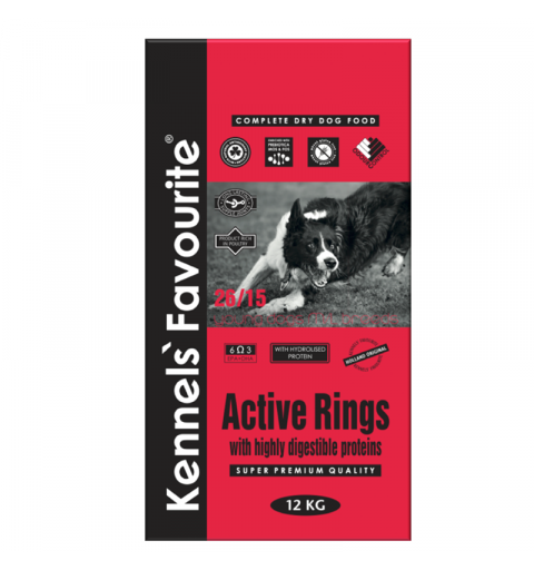 Kennels' Favourite Active Rings 12,5kg + Yam-Yam TUTTY–FRUTTY