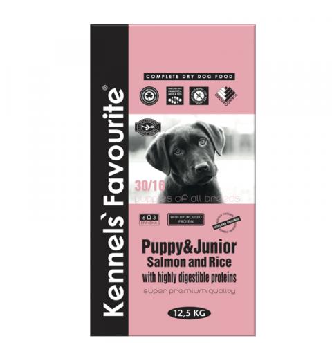 Kennels' Favourite Puppy Salmon & Rice 12,5kg + Yam-Yam TUTTY–FRUTTY