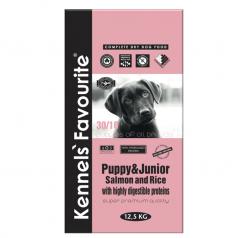 Kennels' Favourite Puppy Salmon & Rice 12,5kg + Yam-Yam PETITE TRAINER
