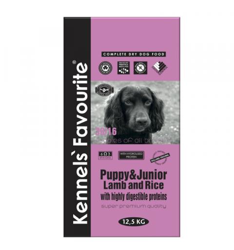 Kennels' Favourite Puppy Lamb & Rice 12,5kg + Yam-Yam TUTTY–FRUTTY
