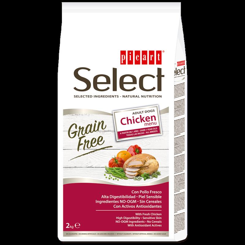 Picart Select Adult Grain Free Chicken Menu