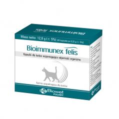 Kapsułki na odporność Biowet Bioimmunex felis dla kotów